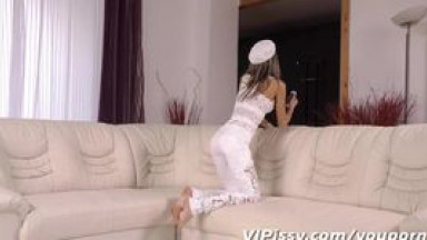 teen lesbian with batman mask trying to squirt for her step sister