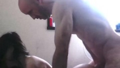 Cum in Tiny Asian MILF's mouth after pounding from behind
