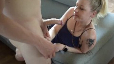 Girl gets hard orgasms and creampie at home, 1 month of pregnancy
