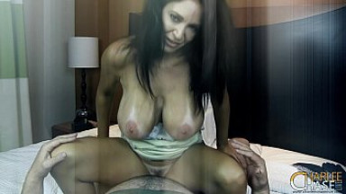 Brunette milf with sexy ass from www.WhoreSS.com facial
